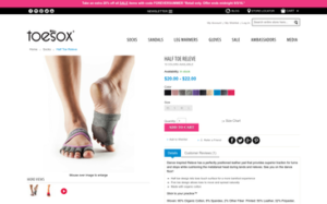 ToeSox Half Toe Releve
