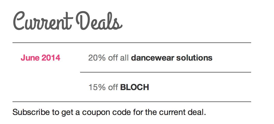 Current Deals Example